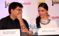 Deepika & Farhan Akhtar at Filmfare cover page launch