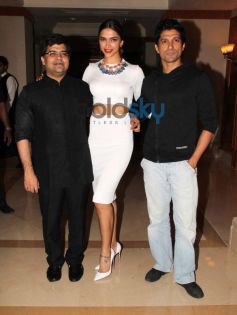 Deepika & Farhan Akhtar snapped during Filmfare cover page launch