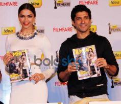 Deepika Padukone & Farhan Akhtar launch Filmfare cover page