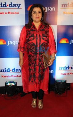 Farha Khan at Mid Day relaunch party