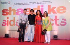 Farhan Akhtar and Vidya Balan during SKSE Promotion