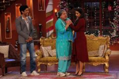 Farhan Akhtar with Vidya Balan at Comidy Nights with Kapil
