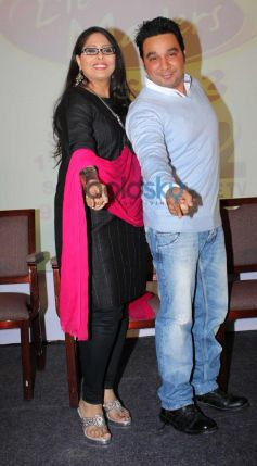 Geeta Kapoor and Ahmed Khan  during Press Meet of zee tv's DID Liltle Masters