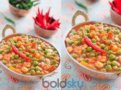 Green Peas n Tomatoes Sabji Recipe