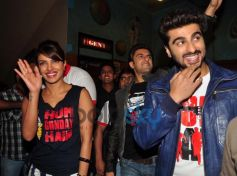 Gunday star cast at Gaiety Galaxy theatre for Gunday promotion