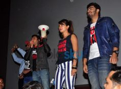 Gunday star cast at Gaiety Galaxy theatre for promotion