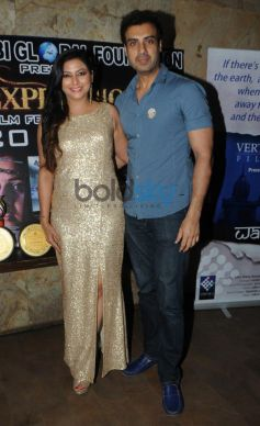 Gurpreet Kaur Chadha  with Gavie Chahal during event