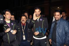 John Abraham during Hero Hockey India League