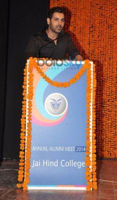 John Abraham during Jai Hind College 11th Annual Meet