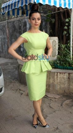 Kangana Ranaut stuns in green costume during Queen Promotion