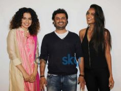 Kangna, Vikas Behal and Lisa at Mehboob Studio