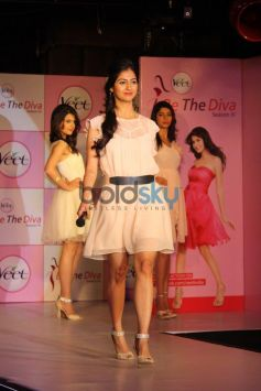 Models ramp walk during Veet Be the Diva contest