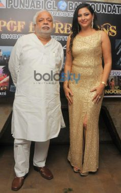 N.Chandra with Gurpreet Kaur Chadha at event