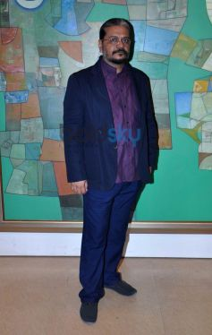 Neeraj Goswami during Painting Exhibition