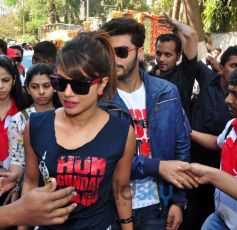 Priyanka Chopra and Arjun Kapoor at Gaiety Galaxy theatre