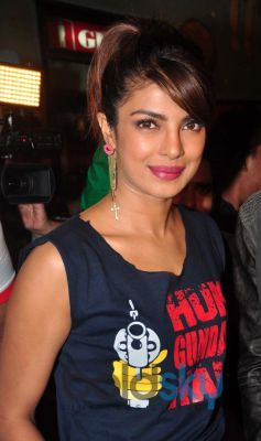 Priyanka Chopra at Gaiety Galaxy theatre for Gunday promotion