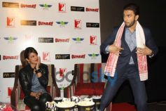 Priyanka Chopra and Ranveer Singh during Gunday Promotional Event