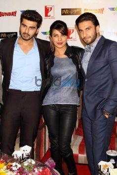 Arjun Priyanka Ranveer during Gunday Promotional Event