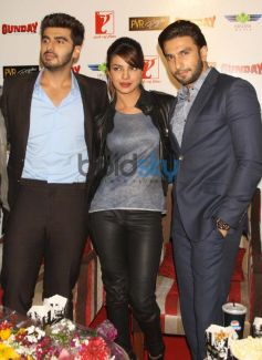 Arjun Priyanka Ranveer during Gunday Promotional Event