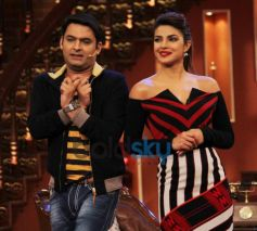Priyanka Chopra with Kapil Sharma during show