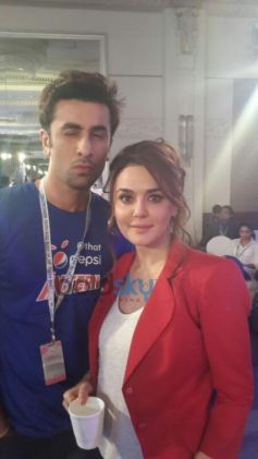 Ranbir Kapoor with Preity Zinta at ipl event