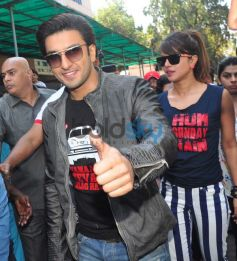 Ranveer Singh and Priyanka Chopra at Gaiety Galaxy theatre