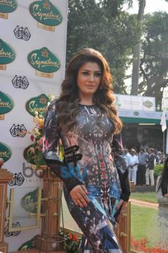 Raveena Tandon during Mc Dowell Signature Indian Derby