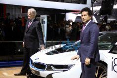 Sachin Tendulkar unveiled BMW Car at Auto Expo 2014