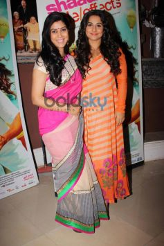 Sakshi Tanwar and Vidya Balan at Bade Achhe Lagte Hain sets