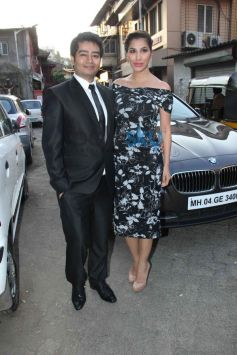 Sophie with Harsh Gupta's summer collection showcase