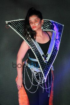 Student ramp walk at National College Festival 2014