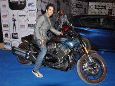 Tushar Kapoor on bike during Top Gear Awards