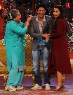 Vidya Balan and Farhan Akhtar at Comidy Nights with Kapil