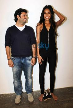 Vikas Behal and Lisa Haydon at Mehboob Studio
