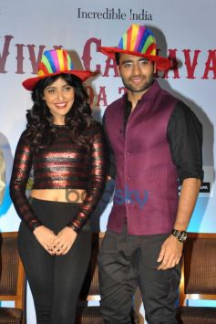 Youngistan star cast at Announcement of Goa Carnival 2014