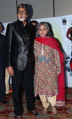 Amitabh and Jaya Bachchan during Vasu Bhagnani Pooja films Party