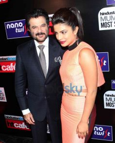 Anil Kapoor with Priyanka Chopra during HT Mumbai's Most Stylish Awards 2014