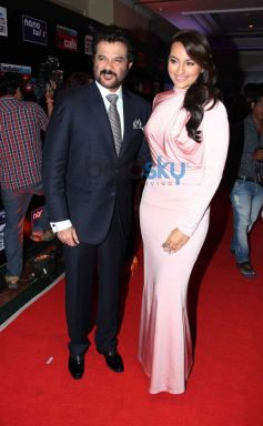 Anil Kapoor with Sonakshi Sinha during HT Mumbai's Most Stylish Awards 2014