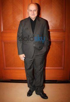 Anupam Kher during Vasu Bhagnani Pooja films Party