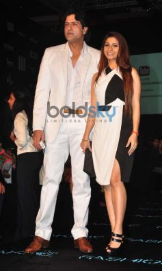 Arman Kohli and Tanisha Mukherjee at LFW 2014