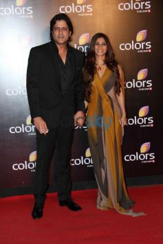 Arman Kohli and Tanisha Mukherjee at star studded colors party