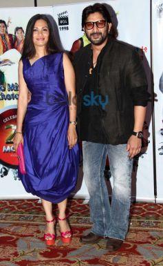 Arshad Warsi and Maria Gorettu during Vasu Bhagnani Pooja films Party