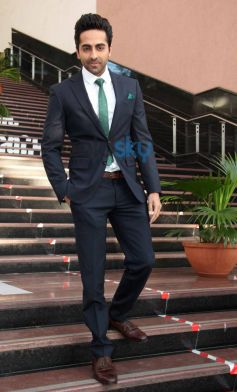Ayushmann during Bewakoofiyaan promotion