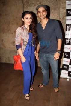 Soha Ali Khan and Kunal Khemu at special screening of Queen