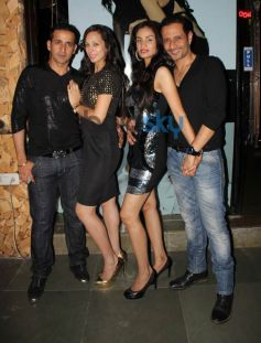 Celebs during Baby Doll song Success Celebration