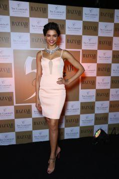 Deepika Padukone unveils Harper's Bazaar India March 2014 cover