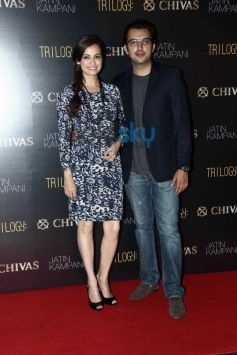 Dia Mirza  and Sahil Sangha at Chivas bash