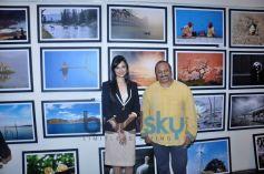 Divya Khosla Kumar and Lesle Lewis at photography exhibition