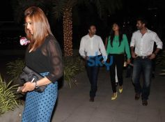 Harman Baweja, Bipasha basu and shilpa shetty and Raj Kundra snapped at yauatcha restaurent in bandr
