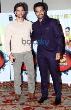 Hrithik Roshan and Jackky Bhagnani during Vasu Bhagnani Pooja films Party